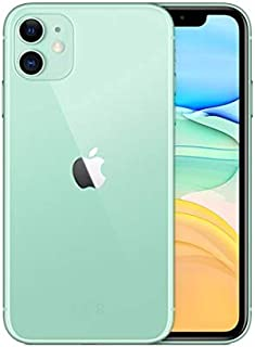 Apple iPhone 11 with FaceTime - 128GB, 4GB RAM, 4G LTE, Green, Single SIM & E-SIM