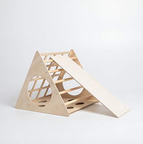 Sweet Home de madera Triángulo de Pikler transformable, triángulo de paso, escalera de escalada para niño Triángulo de escalada para niños pequeños Triángulo con rampa Pikler dreieck (con rampa)