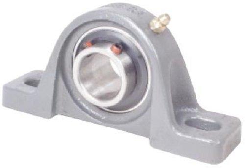 "Peer Bearing UCP207-20 Pillow Block, Standard Shaft Height, Wide Inner Ring, Relubricable, Anti-Rotation Pin, Set Screw Locking Collar, Single Lip Seal, Cast Iron Housing, 1-1/4"" Bore, 1-7/8"" Shaft Height, 5"" Bolt Center"