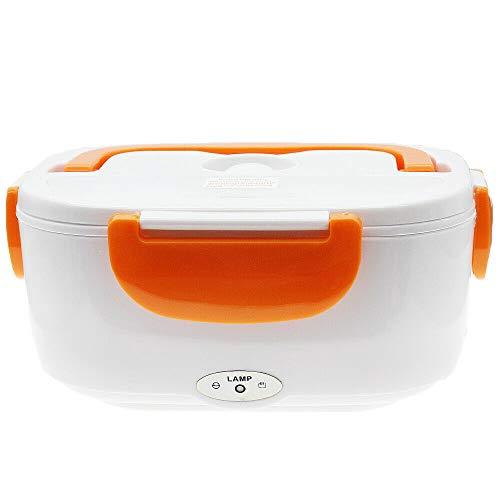 Orange electric heated us plug heating lunch box bento travel food warmer 110v plastic