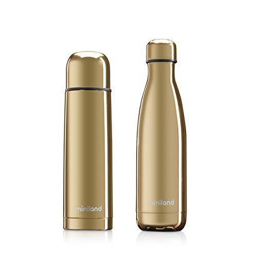 Set thermoskan 500 ml + isoleerfles MYBABY & ME GOLD goud