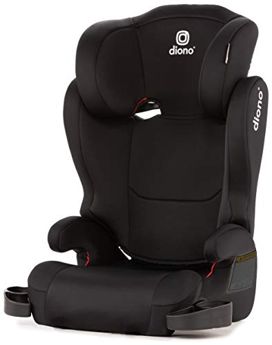 Diono Cambria 2 High Back and Backless Booster Seat 40  120 lbs Black