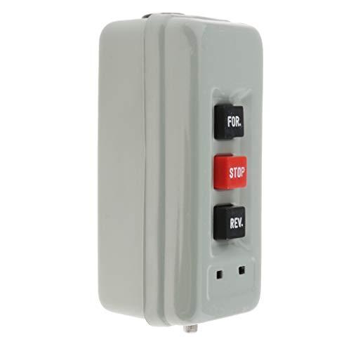 yotijar Interruptor Eléctrico de Botón Pulsador de Marcha Atrás BS-315 500V 2.2KW Di
