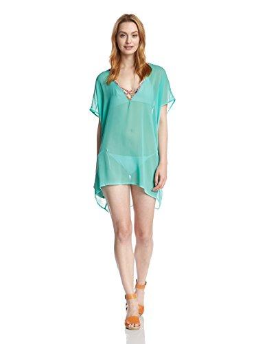 Jessica Simpson Swimwear Totem Strap Back Tunic-Mint-XL