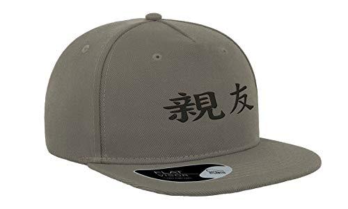 Japan Kanji Best Friend - Gorra de béisbol unisex con visera plana y bordada, transpirable,...