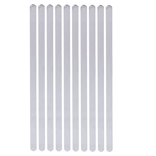 EXCEART 10 Piezas de Acero Inoxidable en Brazalete Brazalete Pulsera en Brazalete Ajustable para Estampado Y Fabricación de Joyas (6 * 160Mm)