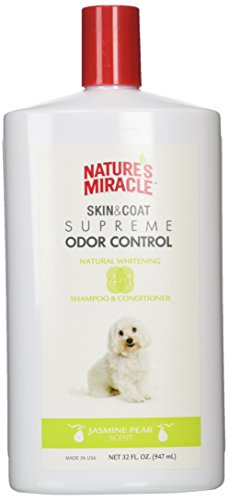 Nature's Miracle NMI06099 Supreme Whitening Odor Control Shampoo, 32 oz