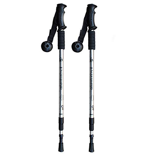 Pasteles de Trekking Trekking Sticks para Caminata retráctiles Nordic Shainks Sheasts Telescopic Walking Bateing Senderismo, Escalada (Color : W)