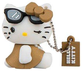 Tribe FD004306 Hello Kitty Pendrive Figur 4 GB Speicherstick Lustig USB Flash Drive 2.0 Memory Stick Datenspeicher; Schlüsselanhänger Kappenhalter; Diva; Braun