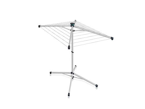 Leifheit Tendedero de pie LinoPop-Up 140, tendedero plegable, compacto y ligero, práctico tendal vertical con 14 metros de longitud de tendido