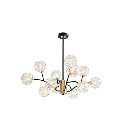 XDH Lampara Colgante Candelabros Moderno Colgante Colgante Araña con Vidrio Transparente para Sala De Estar Dormitorio Comedor Luminaria de Techo (Color : B)