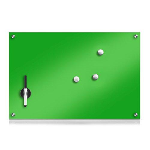 Zeller 11667 Memobord, Glas, grün, ca. 60 x 40 x 2 cm