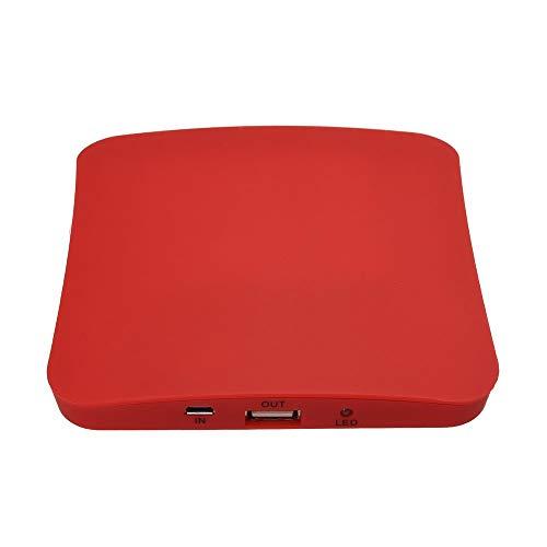 Portátil 2600mah Solar Ventana Cargador Rápido Poder Banco con Succión Tazas, 1 Micro/USB Cable Adecuado para Androide Sistema Teléfonos y Otro Inteligente Teléfono Digital Cámaras,Rojo