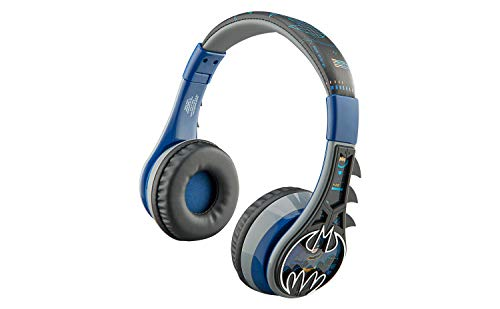 Batman Kids Bluetooth Headphones, Wireless Headphones with Microphone Includes Aux Cord, Volume Reduced Kids Foldable Headphones for School, Home, or Travel