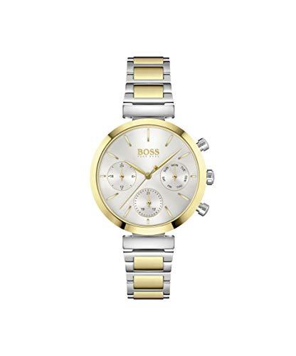 Hugo Boss Damen Analog Quarz Uhr mit Edelstahl Armband 1502550