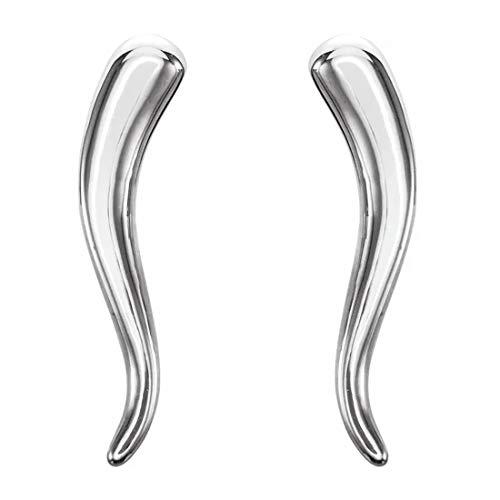 14k italian white gold earrings - 4