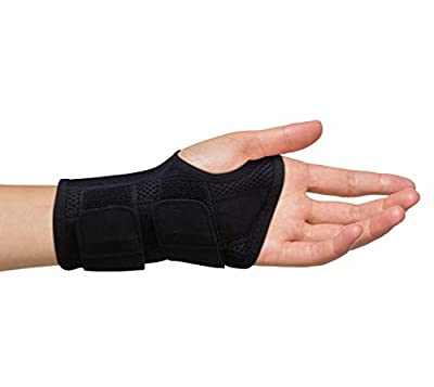 Carpal Tunnel Wrist Brace for Men and Women - Day and Night Therapy Support Splint for Relief of Arthritis, Wrists, Arm, Thumb and Hand Pain - Adjustable Straps (Left Hand Small / Medium)