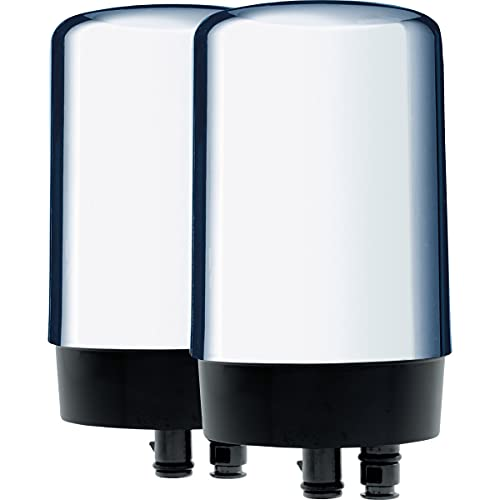 Brita Basic Replacement Water Filters, Chrome, 2 Count - 36312