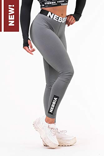 Nebbia Damen Scrunch Butt Sport Leggings 691 Fitness Gym Bodybuilding Running Sport T-Shirt Yoga (Black, S)