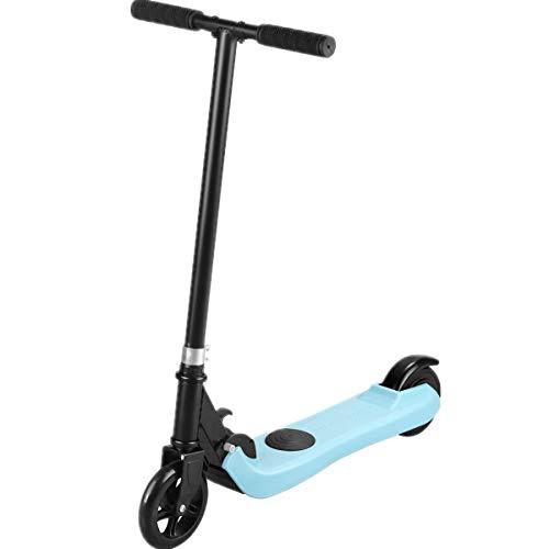 Riding' times Patinete eléctrico para niños, plegable, con motor de 120 W, 5 km de distancia, hasta 6 km/h, tiempo de carga de 2 horas, para 5-12 niños y niñas