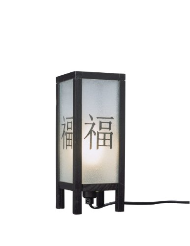 Massieve tafellampen - tafellampen (Ambience, AC, E14, zwart, glas, synthetisch, hout, Bedroom, Living Room)