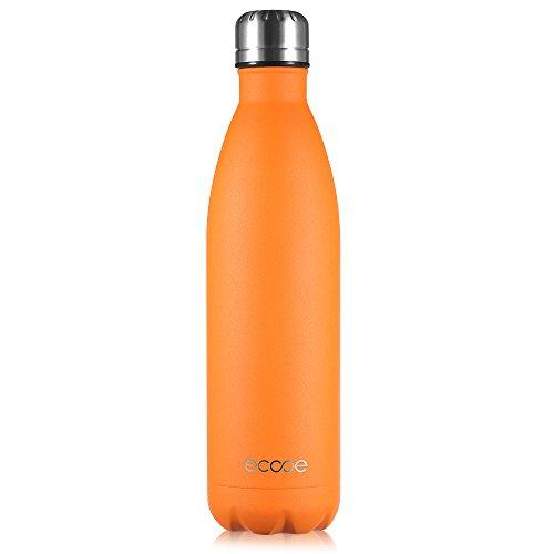 Ecooe Thermosflasche 750ml Doppelwandig Trinkflasche Edelstahl Wasserflasche Vakuum Isolierflasche Orange