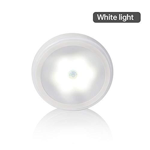 Veilleuse 0.3W 4.5V 6Led Pir Infrarouge Motion Sensor Night Light Contrôle sans Fil Économie D'Énergie Applique Murale Lampe De Nuit Pathway Cabinet Blanc