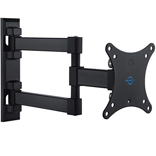 deleyCON Soporte Universal de Pared para TV 13'-27' Pulgadas (33-69cm) Inclinable y Rotatorio - 20Kg - hasta VESA 100x100 Plasma LCD LED OLED TFT