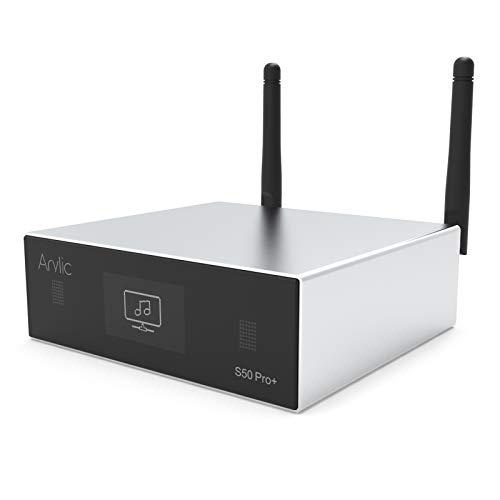 Arylic Receptor de Audio WiFi y Bluetooth 5.0, preamplificador aptX HD con ESS Sabre Dac AKM ADC Multiroom / multizone, Receptor de Audio WiFi inalámbrico con Airplay, Spotify Radio-Up2stream S50 Pro