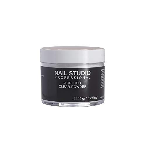 Nail Studio - Acrilico Clear Powder - Polvere Trasparente per la Ricostruzione Acrilica Delle Unghie - Formato 45 gr