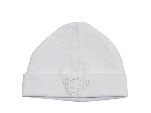Bonnet coton blanc brodé - King Bear