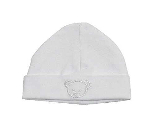 Bonnet coton blanc brodé - King Bear