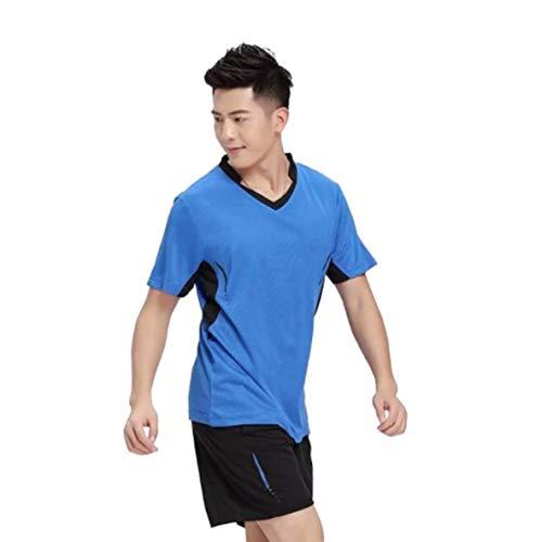 CHOUCHOU Colgante Pendientes Camisa del Hombre del Tenis Juego de bádminton Ropa de Tenis de Tenis de Mesa Fija Ropa Transpirable Deportes Camisa + Falda de Tenis Desgaste del Juego
