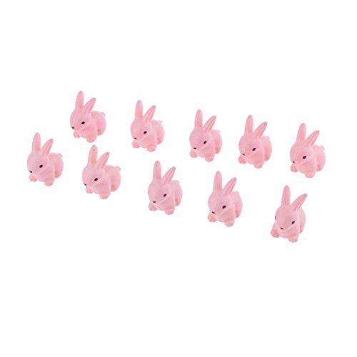 MagiDeal 10pcs Lapins Dessin Animé Miniature en Résine Dollhouse Décoration pour Micro Paysage/Bonsaï