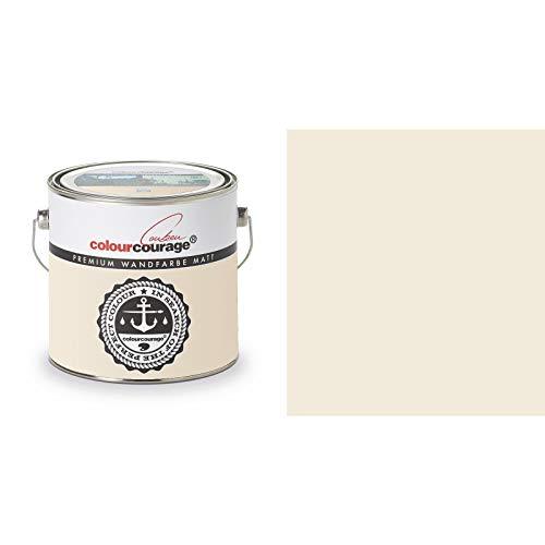 2,5 Liter Colourcourage Premium Wandfarbe Nut Smoothie Bräunliches Gelb | L719778615 | geruchslos | tropf- und spritzgehemmt
