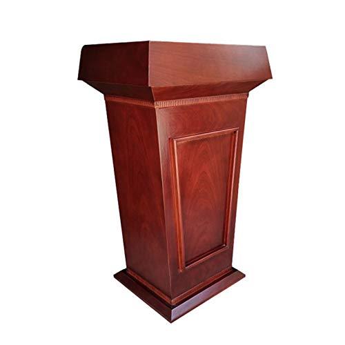 YzDnF Deluxe Holz Podiumempfangsrestaurant Podium Tall Podium für Bodenkanzelhektre-Rezeption Stand auftragen (Color : Red Brown, Size : 50x70x115cm)