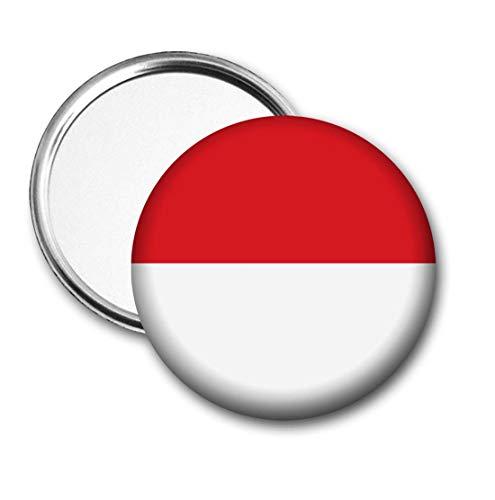 Indonesië Vlag Pocket Spiegel voor Handtas - Handtas - Cadeau - Verjaardag - Kerstmis - Stocking Filler - Secret Santa