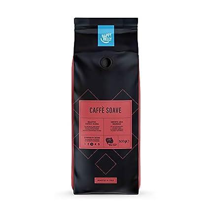 """Marca Amazon - Happy Belly Café de tueste natural en grano """"Caffè Soave"""" (2 x 500g)"""