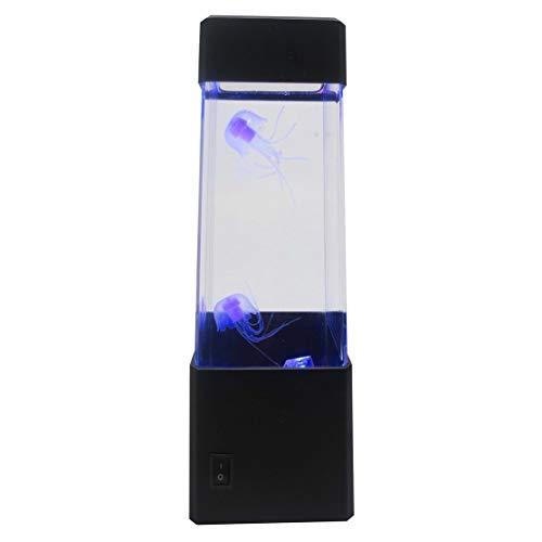 Kaemma kwalle water bal aquarium LED-verlichting lamp ontspannen 's nachts sfeerlicht voor hoofddecoratie Magische lamp Gift (kleur: Zwart)
