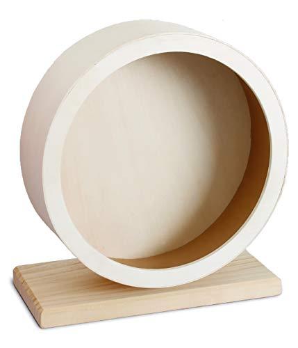 Dehner Kleintierzubehör Laufrad Motion, Ø 20 cm, Holz, natur