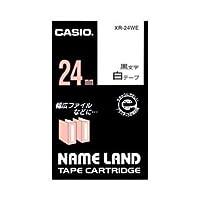 (業務用セット) カシオ(CASIO) ネームランド エコテープカートリッジ 白に黒文字 24mm 【×5セット】 ds-1643600