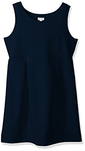 Gymboree Girls' Big Sleeveless Uniform Ponte Knit Dress, Navy, M