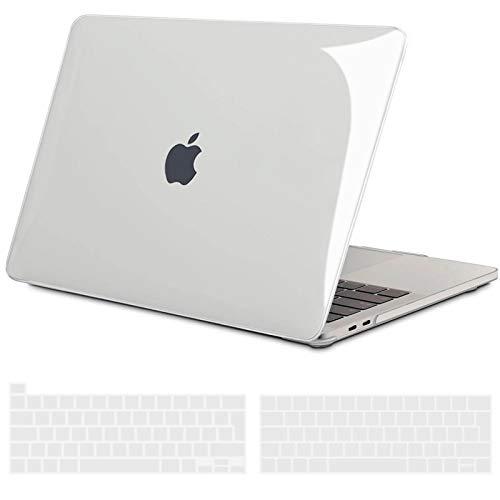 TECOOL Custodia MacBook PRO 13 Pollici 2016-2020 (Modello: A2338 M1/A2289/A2251/A2159/A1706/A1989), Plastica Cover Case Rigida e Copritastiera per MacBook PRO 13.3 con Touch Bar - Cristallo Chiaro
