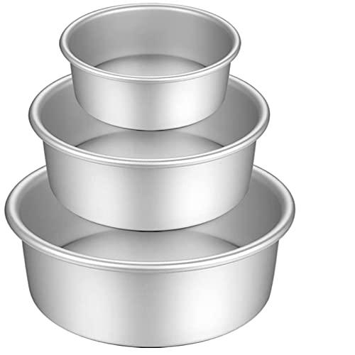 3 Sztuki/Zestaw Nieszczelnych Sprężynowych Sprężynowych Przecieków PAN, Professional 5 Cali (11 Cm) 8 Cali (18 Cm) 11 Cali (23 Cm) Okrągły Ciasto Cynowe, Srebro
