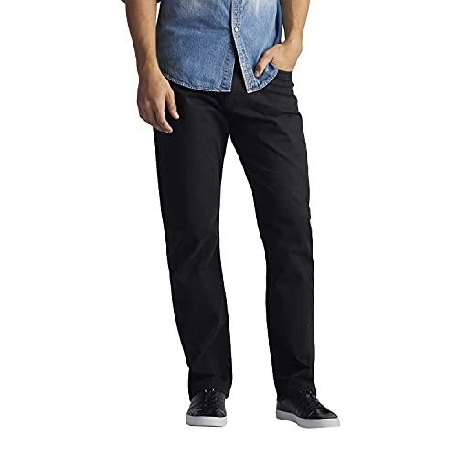 Lee Performance Series Extreme Motion - Pantalones de mezclilla de pierna cónica para hombre, Negro, 34W x 32L