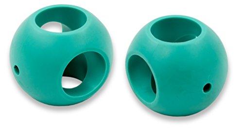 GAMMA Magnet Waschkugel Waschball für die Waschmaschine und/oder den Geschirrspüler - DOPPEL-SET (petrol, Doppelset)