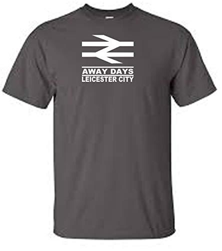 Veedub Clothing - Camiseta de fútbol Leicester Away Days Negro gris oscuro XXL