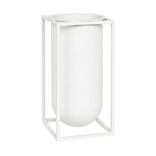 By Lassen - Kubus - Vase Lolo - Weiß - Metall - 12 x 24 x 12 cm