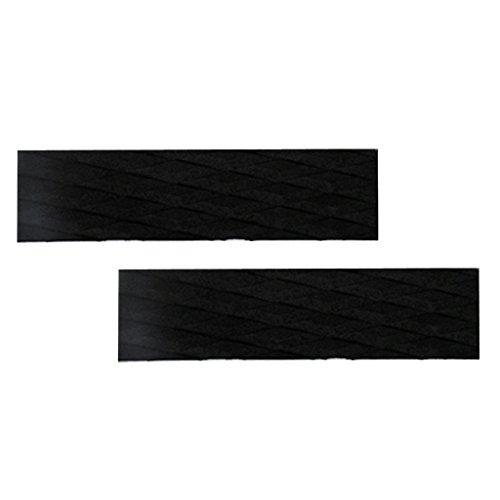 Homyl 2 x Deck Grip Tail Pad Tracción Pad Grip Bar para tabla de surf / Kiteboard / Skimboard - Negro, como se describe