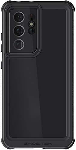 Ghostek NAUTICAL Waterproof Galaxy S21 + Case with Screen Protector Built-In Full Body Watertight Seal Wireless Charging Compatible Designed for 2021 Samsung Galaxy S21+ Plus 5G (6.7') (Phantom Black)